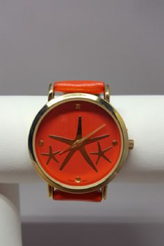 New Arrival - Coral Starfish Watch  Love this coral starfish analog watch!  Add this to any outfit for a pop of color.  Fast FREE Shipping! Shop: