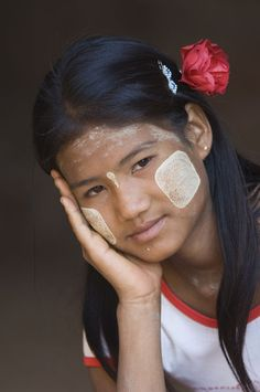 Portrait of a young Burmese woman, Bagan (Pagan), Myanmar (Burma)   © Gabrielle Therin-Weise