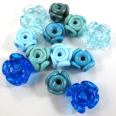 Handmade Lampwork Beads Glass  Lampwork beads set 12 by gaialai, $29.00