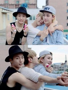 HanJoo are so cute and adorable together like a perfect couple ♥♥♥♥ ♥♥♥♥♥♥♥ and then their is HoJoon being the third wheel ....LOL #Topp Dogg #HanJoo #HoJoon