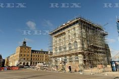 Construction work on Queen Mother Square at Poundbury, Dorset, Britain - 03 Feb 2016 Pub, hotel and restaurant that will be named after the Duchess of Cornwall 3 Feb 2016