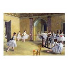 The Dance Foyer at the Opera on the rue Le Peletier 1872 Canvas Art - Edgar Degas (24 x 18)