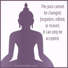 The past cannot be changed, forgotten... or erased. It can only be accepted.