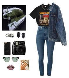 """""""Untitled #211"""" by http-brxana ❤ liked on Polyvore featuring Yves Saint Laurent, Fujifilm, Tarina Tarantino, Ray-Ban, Reyes and Forever 21"""