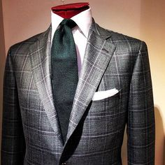 "Viola Milano ""Forest"" 6-fold grenadine tie - Jacket by Cesare Attolini"