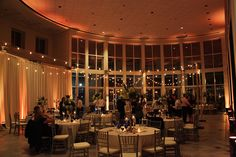Wedding Reception At The Orlando Museum Of Art Led Uplighting And Market Lights By Keventlighting