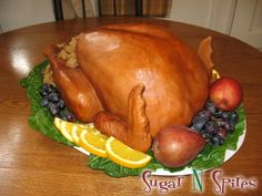 Thanksgiving Turkey Cake - this beats the turkey cupcakes I made this year! Pretty Cakes, Cute Cakes, Beautiful Cakes, Yummy Cakes, Amazing Cakes, Turkey Cupcakes, Turkey Cake, Turkey Dessert, Thanksgiving Cakes