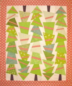 Topsy-Turvy Trees! on Craftsy. A paper pieced quilt by Jennifer Ofenstein (sewhooked.com).