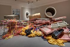 Phyllida Barlow - Installation view: 'HOARD', Norton Museum of Art, West Palm Beach PA, 2013-4 http://www.hauserwirth.com/artists/50/phyllida-barlow/images-clips/6/