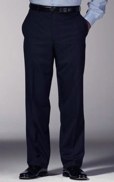 3bf0dc8e0b79 Elegant and stylish navy blue slim fit dress pants for men. A wide range of
