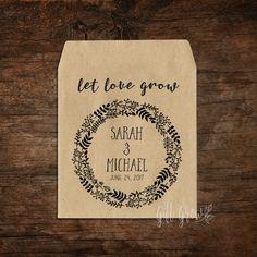 Black Wildflower Layered Wreath Wedding Seed Packets Affordable Wedding Favours, Rustic Wedding Favors, Woodland Wedding, Burlap Bags, Seed Packets, Wild Flowers, Mason Jars, Seeds, Wreaths