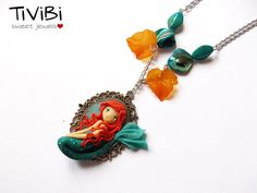 Mermaid necklace by TiViBi on Etsy