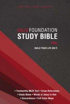 Foundation Study Bible-Nkjv, Black