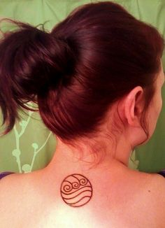 Simple water tattoo, from Avatar- the last airbender.