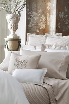 Man caves, bedroom decor, home bedroom, master bedroom, beautiful bedding. Dream Bedroom, Home Bedroom, Master Bedroom, Bedroom Decor, Bedroom Stuff, Classic Decor, French Country House, Home Living, Beautiful Bedrooms
