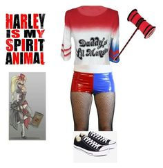 """""""harley quin"""" by themeltonkids on Polyvore featuring COS, Converse and Quin"""