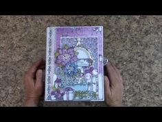 PART 1 TUTORIAL 7X9 MINI ALBUM with HEARTFELT CREATIONS COFFEE TALK PAPER - DESIGNS BY SHELLIE - YouTube