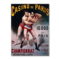 International Wrestling Championship by Pal Vintage Advertisement on Wrapped Canvas