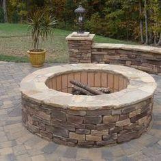 perfect. simple. DIY backyard firepit