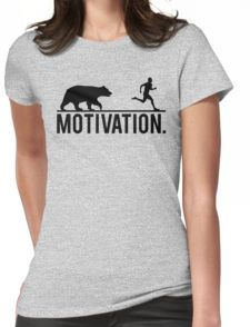 MOTIVATION (Bear Chasing Runner) Womens Fitted T-Shirt