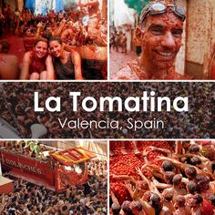"""The famous """"La Tomatina"""" - the worlds biggest tomato fight close to Valencia, Spain! Happens in August"""