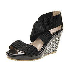 Heel Wedge plate-forme Sandales Chaussures similicuir femmes (plus de couleurs) – EUR € 24.74