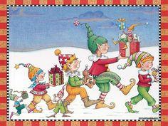 обои Ночь перед Рождеством иллюстрация - Рождественский эльф искусства обои - Рождественский эльф фото 13