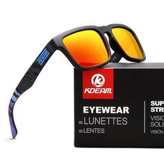 0c1d461fb0c2ee KDEAM 2018 Sport Sunglasses Men Polarized zonnebril mannen Square Sun  Glasses Women Eyewear 11 Colors UV400