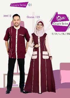 Baju Gamis & Kemeja Pria Mutif Couple Series 01 Batik Fashion, Abaya Fashion, Muslim Fashion, Fashion Dresses, Muslim Long Dress, Modele Hijab, Beautiful Dress Designs, African Shirts, Islamic Clothing