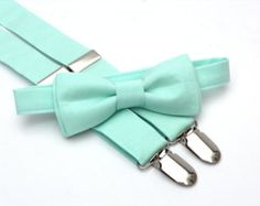 Mint bow tie & suspenders mint suspenders mint green by DapperGent