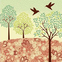 Cross stitch pattern Etsy listing at https://www.etsy.com/listing/77101219/hazy-day-hummingbirds-cross-stitch