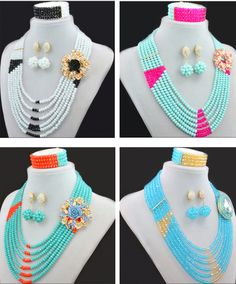 2016 Hot Sale African Beads Jewelry Sets Nigerian Wedding African Crystal Beads Jewelry Set