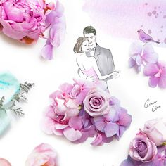 A fresh take on the floral trend. Grace Ciao is a fashion illustrator from Singapore who uses flowers in her artwork. Ciao's drawings are bright, sweet and often romantic. Grace Ciao, Fashion Design Drawings, Fashion Sketches, Floral Illustrations, Illustration Art, Manequin, Pressed Flower Art, Floral Fashion, Dress Fashion