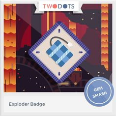 I had a blast in the sparkling dark and earned my Exploder Badge! - playtwo.do/ts #twodots