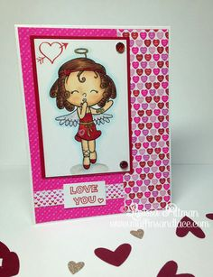 Designed by Larissa Pittman of Muffins and Lace using Your Next Stamp Sealed with a Kiss