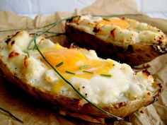Baked Potato, Sweet Potato, I Love Food, Good Food, Veggie Recipes, Cooking Recipes, Finger Foods, Mashed Potatoes, Food And Drink