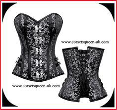 26ea5f61fb87 Adaly Brocade Gothic Corset www.corsetsqueen-uk.com. Corsets Queen