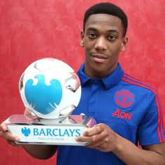 #ManchesterUnited's teenage striker Anthony Martial has been named Barclays Player of the Month for September.  #MUFC #ManUtd #BPL #PremierLeague #POTM