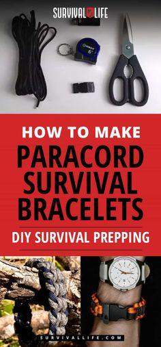 Paracord Survival Bracelets | How To Make Paracord Survival Bracelets