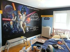 This under-construction Star Wars room. | Community Post: The 32 Geekiest Bedrooms Of All Time