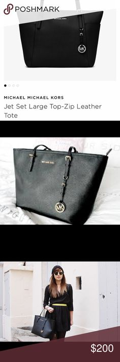 Michael Kors jet set  travel large saffiano Mint condition,  no scratches, no peel no nothing, i worm this bag once theres no flaws, i'm more of small bags, this is so beautiful!!!  I paid 268 + taxes at the store :)❤️ Michael Kors Bags Totes
