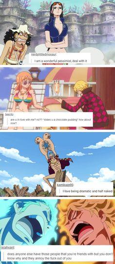 One Piece + text post meme
