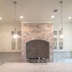 i love brick accents since we had it in several places in my childhood home
