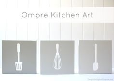 Learn how to create this ombre kitchen art on iheartnaptime.net #DIY #crafts