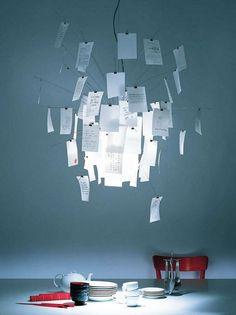 Ingo Maurer, lighting design at its best, Zettel'z 6 lamp, Ingo Maurer, 1998