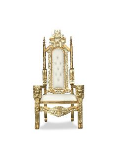 Shop our King Raja Throne Chair on sale with free nationwide shipping! Choose from over 400 affordable Throne Chairs for sale and in stock! King On Throne, Royal Throne, Chair And Table Rental, Wedding Background Images, Throne Chair, Pipe And Drape, Chiavari Chairs, Victorian Furniture, Charger Plates