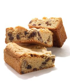 Studded with chocolate chips and chopped nuts.