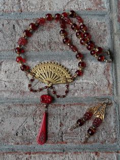 Asian Excursion Necklace Set by thewhisperingseas on Etsy, $45.00