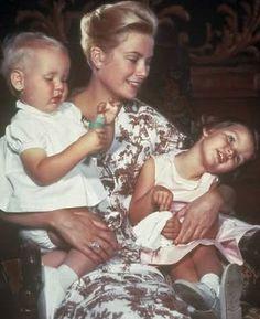 with Prince Albert and Princess Caroline