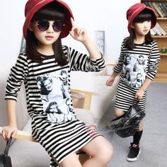 Cheap dress short, Buy Quality dress garter directly from China dress skeleton Suppliers: Baby Girl 4-13 Years T-shirt Autumn Letter Printed Character Long Sleeve T-shirt For Teenagers Baby School